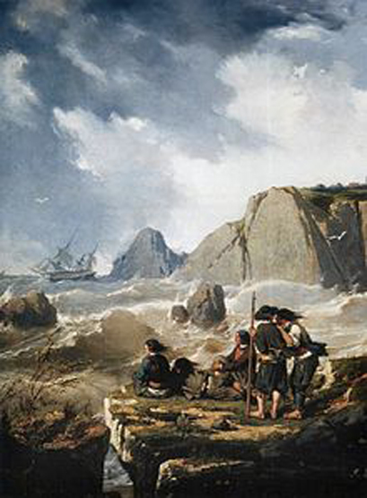 Pierre emile barthelemy naufrage sur la cote bretonne 1851